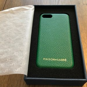 NIB Maison de Sabre Green phone case